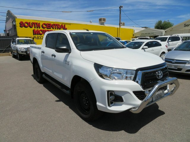 Used Toyota Hilux GUN136R MY19 Upgrade SR Hi-Rider Morphett Vale, 2019 Toyota Hilux GUN136R MY19 Upgrade SR Hi-Rider White 6 Speed Manual Double Cab Pick Up