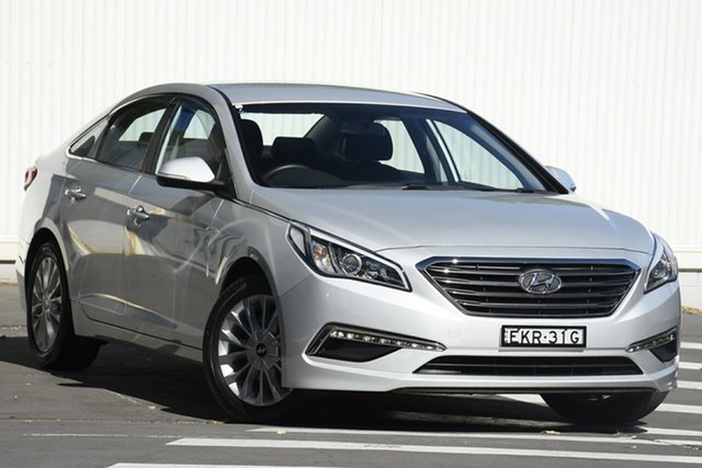 Used Hyundai Sonata LF Active Wollongong, 2015 Hyundai Sonata LF Active Silver 6 Speed Sports Automatic Sedan