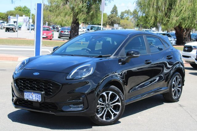 Used Ford Puma JK 2020.75MY ST-Line Midland, 2020 Ford Puma JK 2020.75MY ST-Line Black 7 Speed Sports Automatic Dual Clutch Wagon