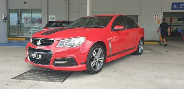 Used Holden Commodore VF MY14 SV6 Melton, 2013 Holden Commodore VF MY14 SV6 Red 6 Speed Sports Automatic Sedan