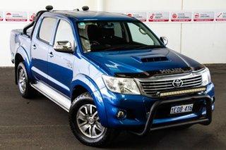 2014 Toyota Hilux KUN26R MY14 SR5 Black (4x4) Tidal Blue 5 Speed Automatic Dual Cab Pick-up.