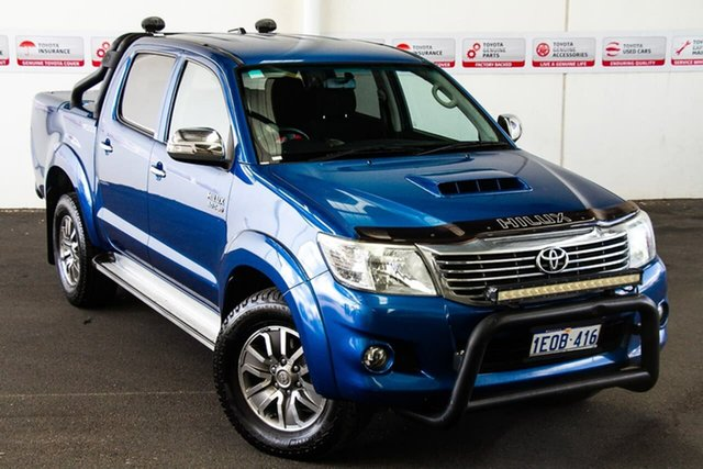Pre-Owned Toyota Hilux KUN26R MY14 SR5 Black (4x4) Myaree, 2014 Toyota Hilux KUN26R MY14 SR5 Black (4x4) Tidal Blue 5 Speed Automatic Dual Cab Pick-up
