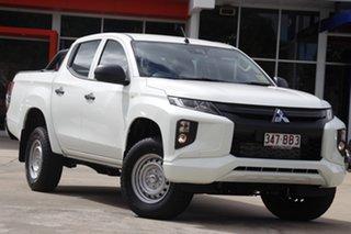 2020 Mitsubishi Triton MR MY21 GLX Double Cab ADAS White 6 Speed Sports Automatic Cab Chassis.