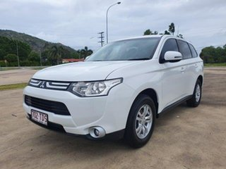 2012 Mitsubishi Outlander ZJ MY13 LS 2WD White 6 Speed Constant Variable Wagon