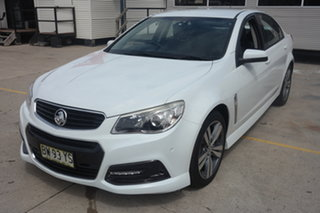 2013 Holden Commodore VF MY14 SV6 White 6 Speed Sports Automatic Sedan.