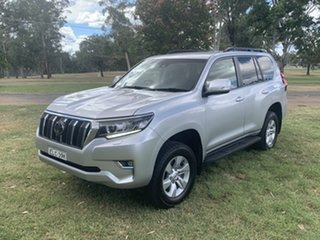 2018 Toyota Landcruiser Prado GDJ150R GXL Silver Pearl 6 Speed Sports Automatic Wagon.