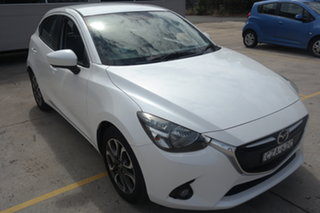 2015 Mazda 2 DJ2HAA Genki SKYACTIV-Drive White 6 Speed Sports Automatic Hatchback.