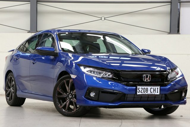 Demo Honda Civic 10th Gen MY20 RS Glen Osmond, 2020 Honda Civic 10th Gen MY20 RS Brilliant Sporty Blue 1 Speed Constant Variable Sedan