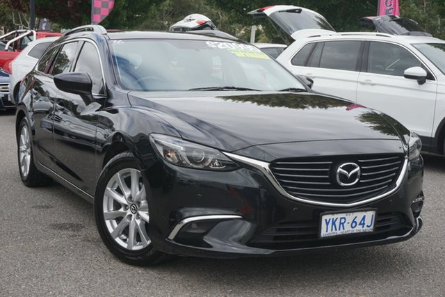 Used Mazda 6 GJ1032 Touring SKYACTIV-Drive Phillip, 2015 Mazda 6 GJ1032 Touring SKYACTIV-Drive Black 6 Speed Sports Automatic Wagon