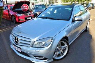2010 Mercedes-Benz C-Class W204 MY10 C350 CDI 7G-Tronic Avantgarde Silver 7 Speed Sports Automatic.