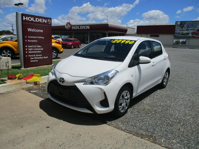 Used Toyota Yaris NCP130R Ascent North Rockhampton, 2017 Toyota Yaris NCP130R Ascent White 4 Speed Automatic Hatchback