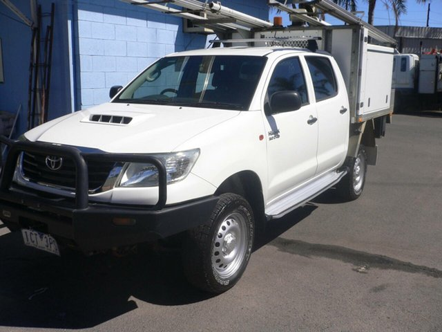 Used Toyota Hilux KUN26R MY14 SR Double Cab St Marys, 2014 Toyota Hilux KUN26R MY14 SR Double Cab White 5 Speed Automatic Utility