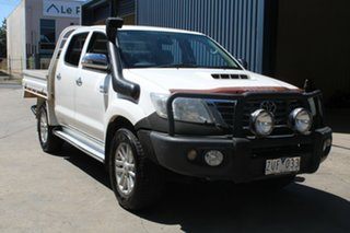 2013 Toyota Hilux KUN26R MY12 SR5 (4x4) White 4 Speed Automatic Dual Cab Pick-up.