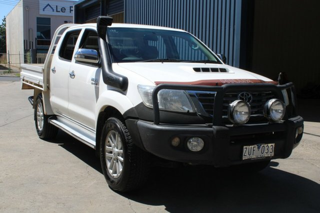 Used Toyota Hilux KUN26R MY12 SR5 (4x4) West Footscray, 2013 Toyota Hilux KUN26R MY12 SR5 (4x4) White 4 Speed Automatic Dual Cab Pick-up