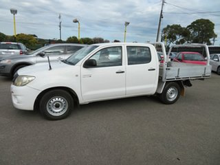 2008 Toyota Hilux KUN16R 07 Upgrade SR White 5 Speed Manual Dual Cab Pick-up