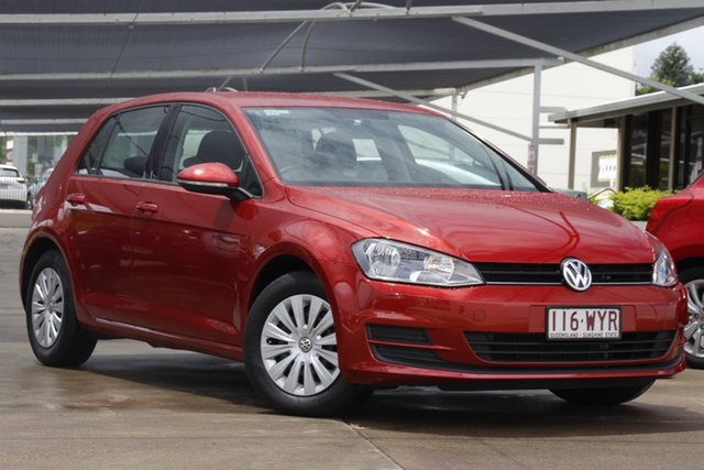 Used Volkswagen Golf VII MY17 92TSI DSG Bundamba, 2016 Volkswagen Golf VII MY17 92TSI DSG Red 7 Speed Sports Automatic Dual Clutch Hatchback