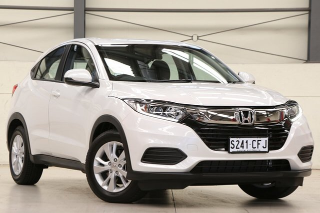 Demo Honda HR-V MY21 VTi Glen Osmond, 2020 Honda HR-V MY21 VTi Platinum White 1 Speed Constant Variable Hatchback