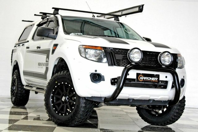 Used Ford Ranger PX XL 3.2 (4x4) Burleigh Heads, 2014 Ford Ranger PX XL 3.2 (4x4) White 6 Speed Automatic Double Cab Pick Up