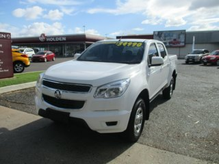 2015 Holden Colorado RG MY16 LS Crew Cab 4x2 White 6 Speed Sports Automatic Utility.