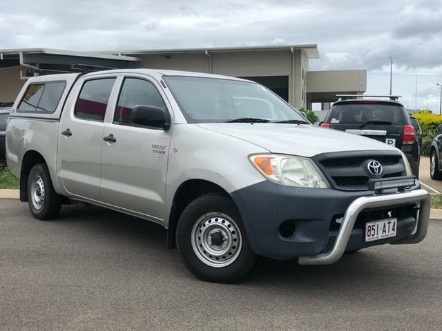 Used Toyota Hilux TGN16R MY05 Workmate 4x2 Garbutt, 2005 Toyota Hilux TGN16R MY05 Workmate 4x2 Silver 5 Speed Manual Cab Chassis