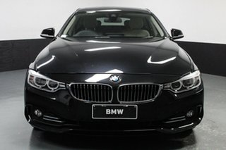 2016 BMW 4 Series F36 420i Gran Coupe Luxury Line Black 8 Speed Sports Automatic Hatchback.