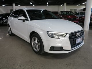 2017 Audi A3 8V MY17 Sportback S Tronic White 7 Speed Sports Automatic Dual Clutch Hatchback.
