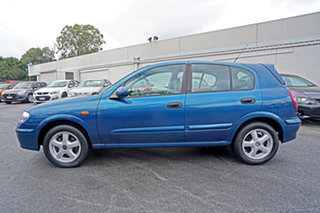 2001 Nissan Pulsar N16 Q Blue 4 Speed Automatic Hatchback