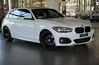 2019 BMW 1 Series F20 LCI-2 118i Steptronic M Sport Shadow Edition White 8 Speed Sports Automatic.