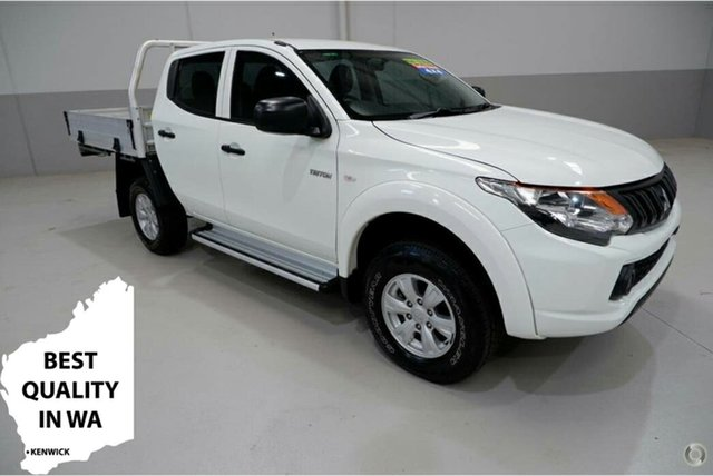 Used Mitsubishi Triton MQ MY16 GLX Double Cab Kenwick, 2016 Mitsubishi Triton MQ MY16 GLX Double Cab White 6 Speed Manual Utility