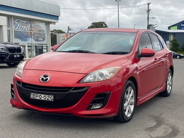 Used Mazda 3 MZR-CD Goulburn, 2010 Mazda 3 MZR-CD Red Manual Hatchback