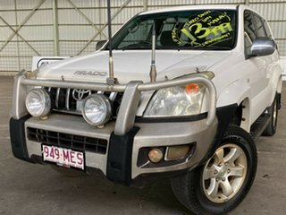 2006 Toyota Landcruiser Prado KZJ120R GXL White 5 Speed Manual Wagon.