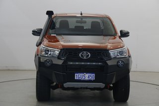 2019 Toyota Hilux GUN126R Rugged X Double Cab Orange 6 Speed Sports Automatic Utility.