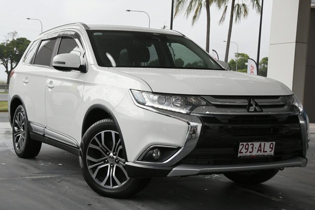 Used Mitsubishi Outlander ZK MY18 LS AWD Safety Pack North Lakes, 2017 Mitsubishi Outlander ZK MY18 LS AWD Safety Pack White 6 Speed Sports Automatic Wagon