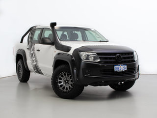 2013 Volkswagen Amarok 2H MY13 TDI400 (4x4) White 6 Speed Manual Dual Cab Chassis.
