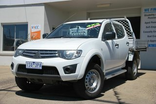 2013 Mitsubishi Triton MN MY14 GLX (4x4) White 4 Speed Automatic 4x4 Double Cab Utility.