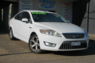 2009 Ford Mondeo MA Zetec White 6 Speed Automatic Hatchback.
