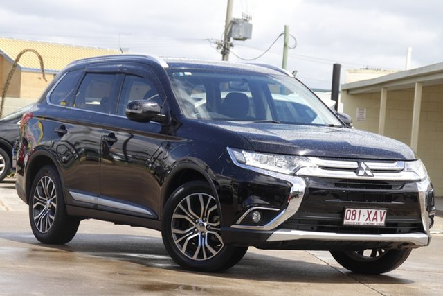 Used Mitsubishi Outlander ZK MY16 LS 2WD Bundamba, 2016 Mitsubishi Outlander ZK MY16 LS 2WD Black 5 Speed Manual Wagon