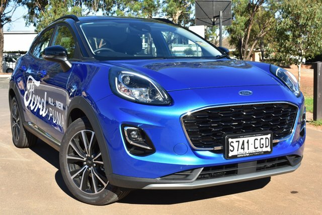 Demo Ford Puma JK 2020.75MY Puma St Marys, 2020 Ford Puma JK 2020.75MY Puma Desert Island Blue 7 Speed Sports Automatic Dual Clutch Wagon