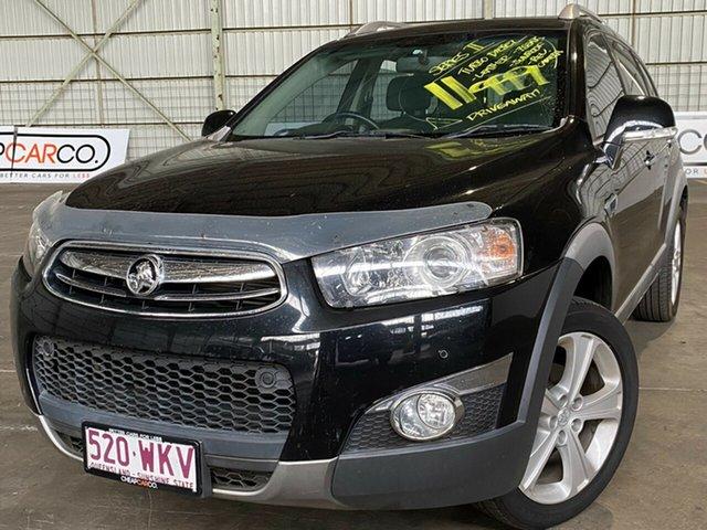 Used Holden Captiva CG MY13 7 AWD LX Rocklea, 2013 Holden Captiva CG MY13 7 AWD LX Black 6 Speed Sports Automatic Wagon