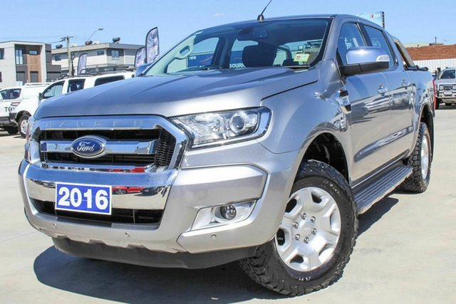 Used Ford Ranger PX MkII XLT Double Cab Coburg North, 2016 Ford Ranger PX MkII XLT Double Cab Silver 6 Speed Sports Automatic Utility