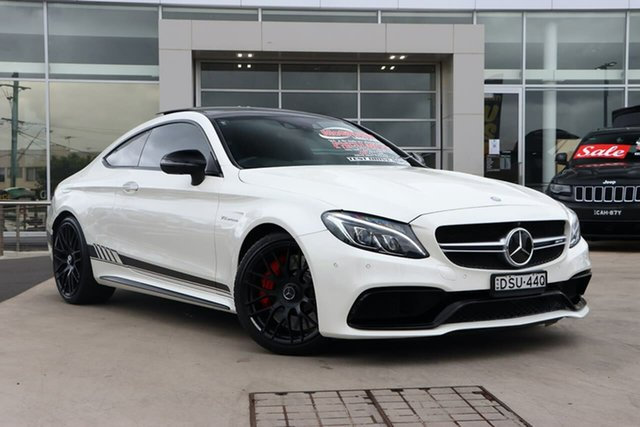 Used Mercedes-Benz C-Class C205 C63 AMG SPEEDSHIFT MCT S Liverpool, 2016 Mercedes-Benz C-Class C205 C63 AMG SPEEDSHIFT MCT S Diamond White 7 Speed Sports Automatic
