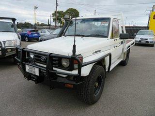 2005 Toyota Landcruiser HDJ79R (4x4) White 5 Speed Manual 4x4 Cab Chassis.
