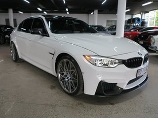 2016 BMW M3 F80 LCI Competition M-DCT White 7 Speed Sports Automatic Dual Clutch Sedan.