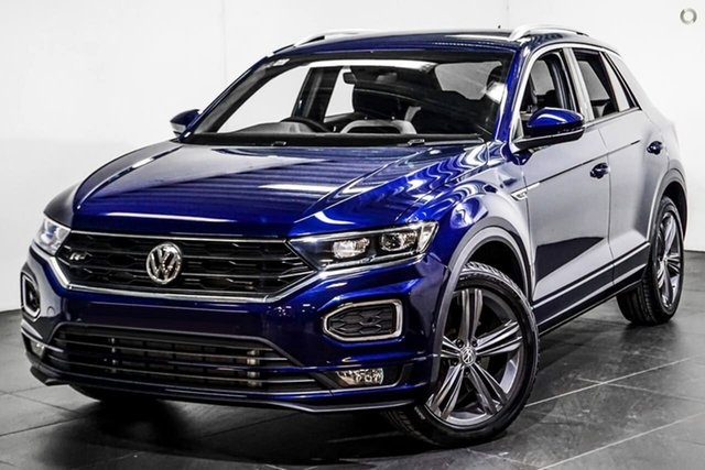 Demo Volkswagen T-ROC A1 MY20 140TSI DSG 4MOTION Sport Botany, 2020 Volkswagen T-ROC A1 MY20 140TSI DSG 4MOTION Sport Blue 7 Speed Sports Automatic Dual Clutch