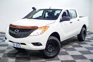 2013 Mazda BT-50 UP0YF1 XT White 6 Speed Sports Automatic Utility.