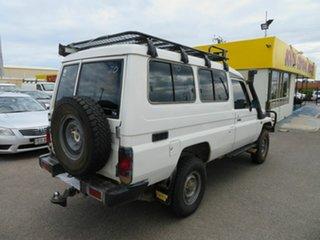 2003 Toyota Landcruiser HZJ78R (4x4) 3 Seat White 5 Speed Manual 4x4 TroopCarrier