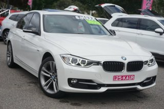 2014 BMW 3 Series F30 MY1114 320i Sport Line White 8 Speed Sports Automatic Sedan.