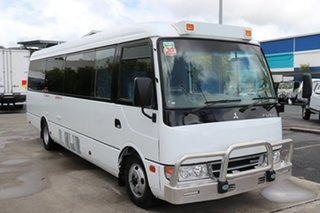2015 Mitsubishi Rosa BE64D Deluxe White Manual Midi Coach.