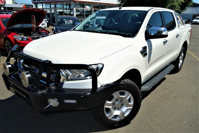 Used Ford Ranger PX MkII XLT Double Cab Seaford, 2016 Ford Ranger PX MkII XLT Double Cab White 6 Speed Sports Automatic Utility
