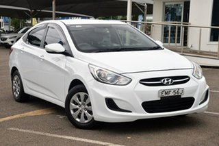 2016 Hyundai Accent RB3 MY16 Active White 6 Speed Manual Sedan.